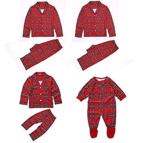 Familie Passenden Weihnachten Pyjama Set Plaid Erwachsenen Kind Baby Boy Girl Pyjama Set Homewear