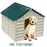 CUCCIA X CANI PVC 71X71X68H GRIG CH/VERDE