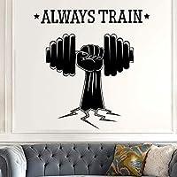 Nombre del gimnasio Etiqueta de Fitness Mano Mancuerna Calcomanía Body-building Posters Vinilo Tatuajes de