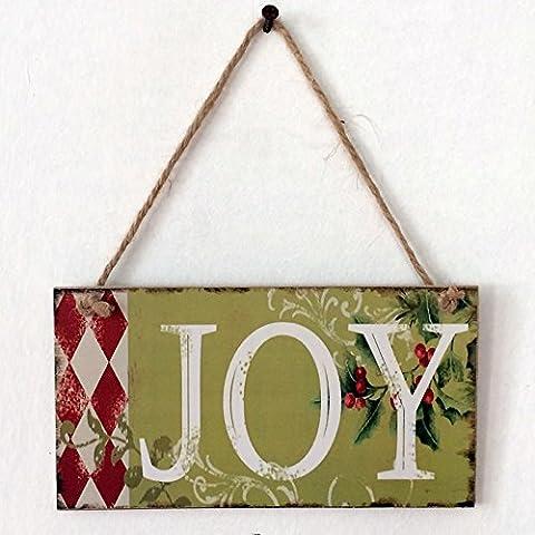 Lanlan Joy Wand Türschild Holz Schild Türschild Wandschild zum Aufhängen mit Cherry Tree Weihnachten Hotel Home (Weihnachts-national Lampoon)