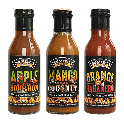Don Marco`s KS0338 Don Marco´s Glaze & Barbecue Sauce 3er-Set | Mango + Orange + Apple Mango-barbecue-sauce