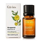 Bergamota Bergamot (Italia) - 100% puro, sin diluir, natural y terapéutico grado para difusor de aromaterapia, piel sana y relajación 10ml - Gya Labs