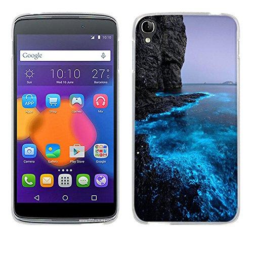 Alcatel One Touch Idol 3(5.5 inch) Hülle Case,Fubaoda[Fluoreszierende Küste]Ultra Dünn Handyhülle Cover Premium-TPU Durchsichtige Schutzhülle Backcover Slimcase für Alcatel One Touch Idol 3(5.5 inch)