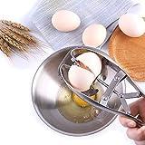 FrideMok Apri guscio per uova Cracker di uova ,Acciaio inossidabile Taglierina di guscio di uovo separatore per uova, utensile creativo da cucina (argento)