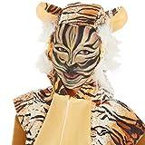dressforfun Kostüm Tiger für Sie und Ihn | Aus weichem Fellimitat | Ärmellos und vorne mit praktischem Reißverschluss | inkl. warmen Handschuhen, Beinstulpen und Ganzkörperstrumpfhose (M | Nr. 300863) Test