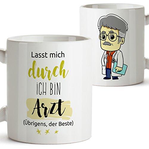 Mugffins Kaffeetassen von Berufen - Geschenk für Ärzte - Hier ist der beste Arzt der Welt - 350 ml...