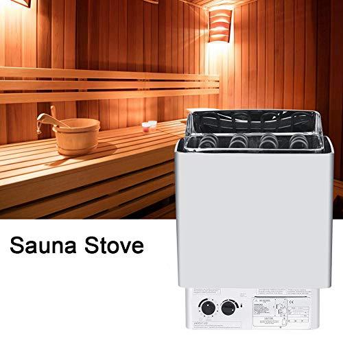 Nannday Elektrischer Saunaofen, 9KW 220-380V Edelstahl Badezimmer Heizung Teaperature Control Sauna BADEKURORTOfen Heizung mit eingebautem Prüfer