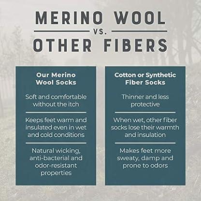 MERIWOOL Merino Wool Kids Hiking Socks for Children 3 Pairs 4