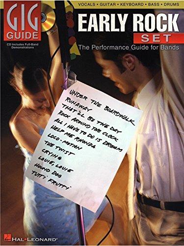 Gig Guide: Early Rock Set. Noten, CD für Gitarre, Bass, Drums, Gitarre TAB, Stimme, Tastatur