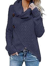 ALIKEEY Las Mujeres De Manga Larga Camisa Maciza Jersey Tops Blusa Sexys Sexi Y Elegante Pink