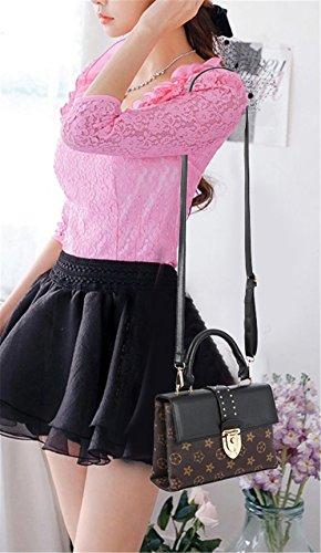 Xinmaoyuan Borse donna femmina di bloccaggio spalla Borsa portatile Porta obliqua semplice sacchetto,Nero Nero