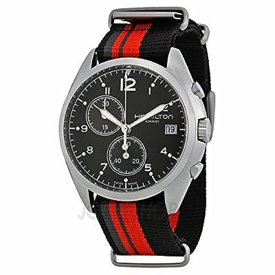 Hamilton caqui Pionero Piloto Negro Dial Hombres Reloj H76552933
