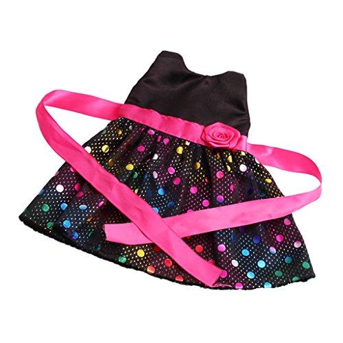 Homyl Schöne Einteiliges Kleid Puppe Outfit Set Für 18 Zoll Mädchen Puppen Dress Up Zubehör - 1 (Baby-dress Outfit Up)