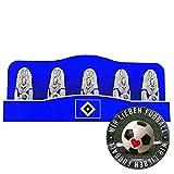 Hamburger SV Schoko Mini Osterhase Schokoladenhase HSV (5 STK.) Plus Aufkleber Wir lieben Fußball