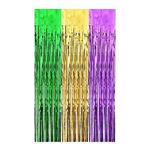 uaste Tisch Rock Folie Fransen Vorhänge Regenbogen Foto Hintergrund für Hochzeit Abschlussfeier Dekoration ()