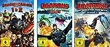 Drachenzähmen leicht gemacht (Box 1&2) + Dragons - Die Reiter/Wächter von Berk (Staffel 1&2) im Set - Deutsche Originalware [10 DVDs]