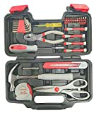 #3: Tool Kit Box (Hex-Nut Wrenches, Slip Joint Plier, Bit Driver Handle, Magnetic Bit Holder, Screwdriver 20Bits, Precision Screwdrivers, Knife, Claw Hammer, Scissors, Measuring Tape Set With UPV Line Tester) Use For Home, Office & All Technical Professional Fields (UPV Sales™) CP Plus Tool Kit