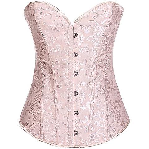 Bellezza sposa abbigliamento pancia corsetto vita vita raccolte Corsetti calzamaglia poliestere sexy corte gilet vestito , apricot , m