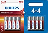 Philips Power Alkaline Battery AA 8-Blister, 4 +4 Promo