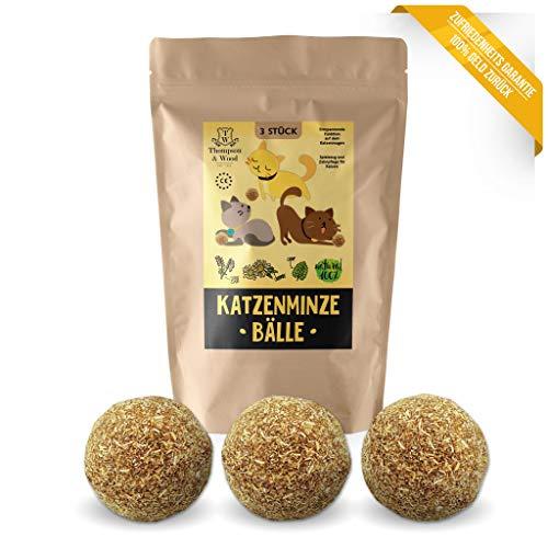 3x Katzenminze Ball | Naturprodukt | Besteht aus 100% natürlicher Katzenminze | Entspannung für...