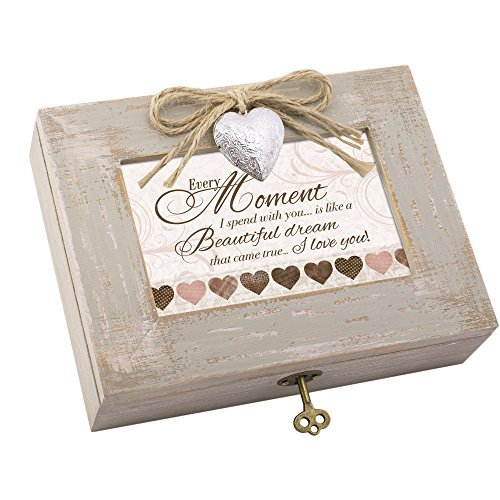 (Cottage Garden Moment Beautiful Dream Taupe Holz Medaillon Musik Box Spielt You Light up My Life)