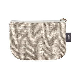 Kleine weiße Geldbörse Kosmetiktasche - Doppellagige 100% Leinen - Geldbeutel - iPhone Hülle - Kleine Make-up Tasche - Reisetasche - Reißverschluss Tasche   Handgefertigte durch ThingStore