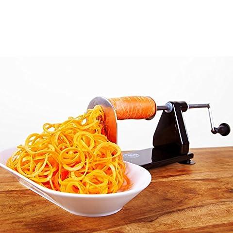Impeccable Culinary Objects ICO010 Spiralizer Appareil à Spirale pour Fruits/Légumes Aluminium (Alluminio Patate)