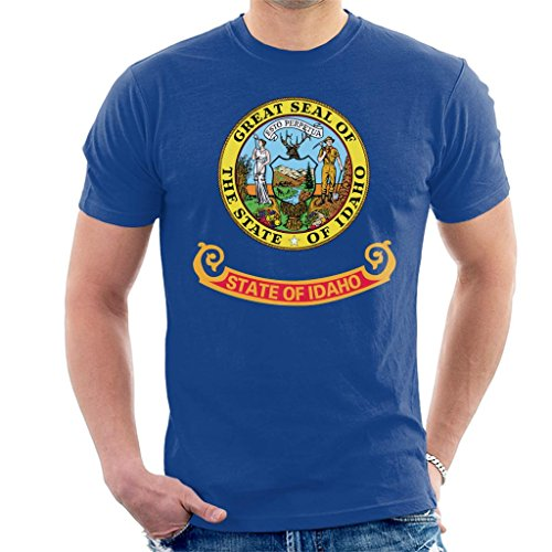 Coto7 Great Seal of The State of Idaho Flag Men's T-Shirt - Idaho State Seal