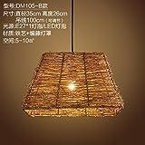 (Furonghuang) Sepia Industrial Wind Rustikale Thema Bar Kreative Restaurant Internet Cafe Shops Milch Tee Lounge Deck Kronleuchtern, Dm 105-B) Lichtquelle (Kein Licht)