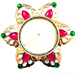 Swaneer Royal Golden Acrylic Designer Diya For Diwali Home Decor Gift Collection