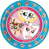Littlest Pet Shop Party - 8 Paper Plates 23cm - Free Postage in UK