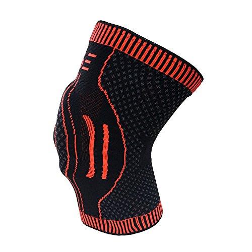 RAISE Knieschoner, Kniebandage zum Laufen, Joggen, Sport, Gelenkschmerzlinderung, Arthritis und Verletzungsgenesung-einlagig mit Silikongelstütze (S)