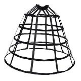 MagiDeal A-line Reifrock Petticoat Brautkleid Unterrock Unterskirt Krinoline für Hochzeitskleider Ballkleider Abendkleider Brautkleider - Schwarz Groß, wie beschrieben