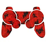 Sony PS3 Controller Sticker - Aufkleber Schutzfolie Skin für Playstation DualShock 3 Wireless Controller - Digicamo Red