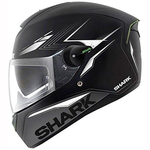 Shark SKWAL Matador Casco De Moto - Negro Plata Blanco, X-Small