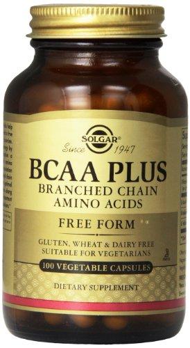 Solgar BCAA Plus Verzweigtkettige Aminosäuren 50 pflanzliche Kapseln