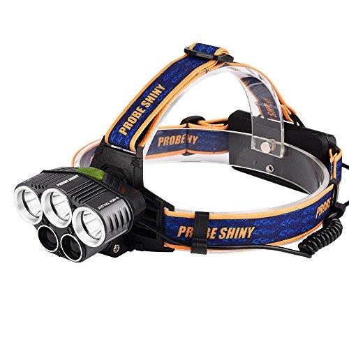 Linterna LED de alta potencia Linterna de mano recargable 5X XML T6 USB 18650 Linternas Linterna militar táctica de la antorcha Linterna LED 25000Lm para el ciclismo de montaña de acampada