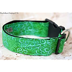 Hundehalsband green Nature mit Stoffbezug und Acetalverschluss