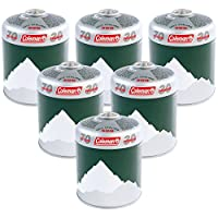 Coleman 6 x C500 Performance Screw On Gas Cartridge, Pack of 6, for Camping Stoves, Compact and Resealable Canister 27