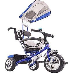 Kiddo Smart Design Tricycle 4 en 1 pour Enfant 3 Roues Bleu Taille Unique