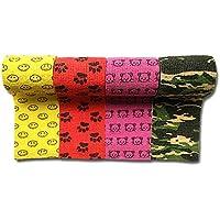 LisaCare Fixierbinde 7,5cm x 4,5m | 4er-Set mit Motiven: Smiley, Pfote, Katze, Tarnmuster | Kohäsive Bandage |... preisvergleich bei billige-tabletten.eu