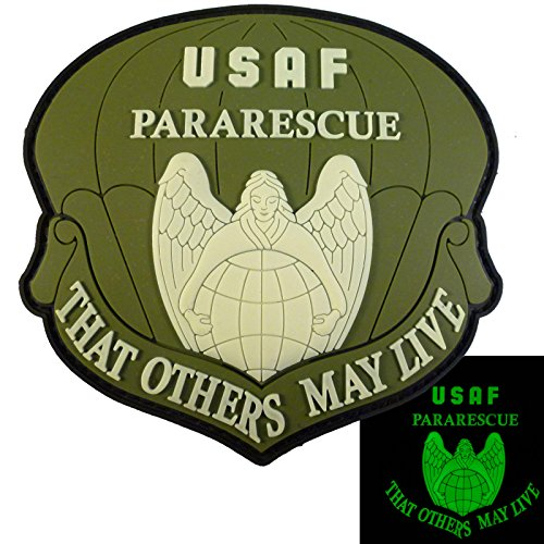 THAT OTHERS MAY LIVE USAF Pararescue Olive Drab Multicam Glow Dark PVC Fastener Aufnäher Patch