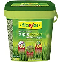 Flower 10733 - Abono césped Triple acción Anti Musgo, 4 kg