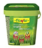 Flower 10733 - Abono césped triple acción anti musgo, 4 kg