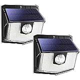 Luci Solari LED Esterno, 140 LED Luce Solare Sensore con Movimento Esterna 3 Modalità di Illuminazione, [Impermeabile IPX7 2