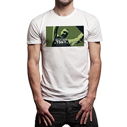 Snatch Movie Brad Pitt Bullet Tooth Tony Avatar Background Herren T-Shirt Weiß