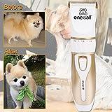 Oneisall Profi Schermaschine mit Zubehör Wiederaufladbare Tierhaarschneider Haustiere Elektrische Haarschneidemaschine für Hunde, Katze - 6
