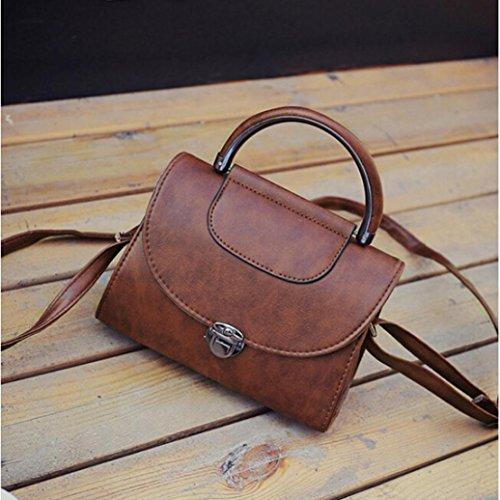 Fashion Bag Candy Messenger Bags Female Handbag Shoulder Bag Flap Women Bag by Kangrunmy Caffè