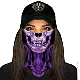 SA Fishing Company Face Shield Pasamontañas, Skull Tech Purple Crow