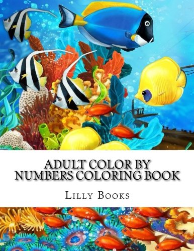 Adult Color By Numbers Coloring Book: A Big Color by Number Coloring Book of Simple, Easy, and Beautiful Large Print Designs for Beginners For Stress Relief (Color By Number Coloring Books For Adults) por Lilly Books